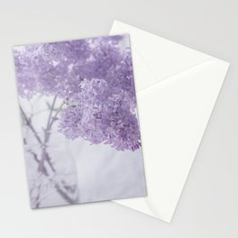 First Love - Pastel Purple Lilac Floral Decor Stationery Cards