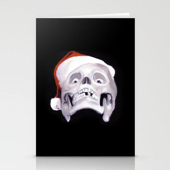 Black XMas. Bastard Son Of Santa Stationery Cards