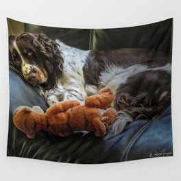 Flame and Her Friend Wall Tapestry