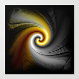 Black Gold Spiral Abstract Canvas Print