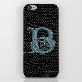 Dragon Letter B, from Dracoserific, a font full of Dragons. iPhone Skin