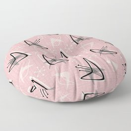Cosmic Tulips on Pink Floor Pillow
