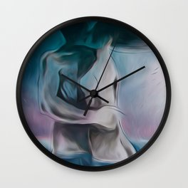 Mermaid?-Embraced couple-Nude Wall Clock