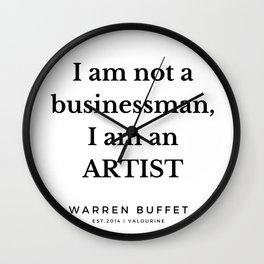 43   | Warren Buffett Quotes | 190823 Wall Clock