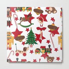 Christmas toys pattern Metal Print