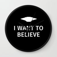 i want to believe Wall Clocks featuring I want to believe by Fabian Bross