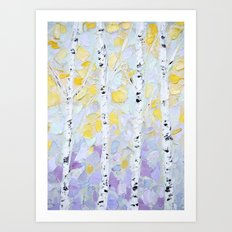 October Birch Art Print