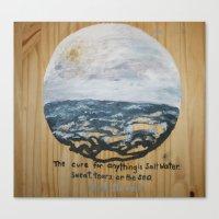 salt water Canvas Prints featuring Salt Water by Maura Hartzman