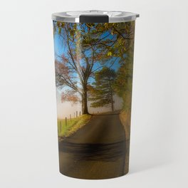 Smoky Morning - Whimsical Scene in Great Smoky Mountains Travel Mug