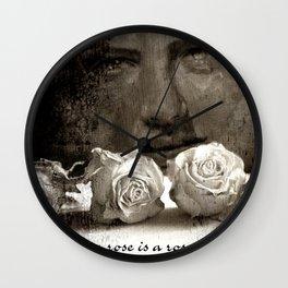 ROSE - vintage version Wall Clock