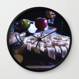 Apple Pie in the Making Wall Clock