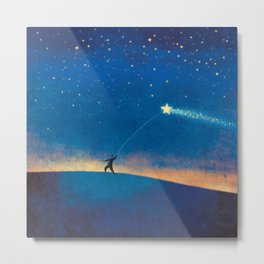 Stars Kite Metal Print