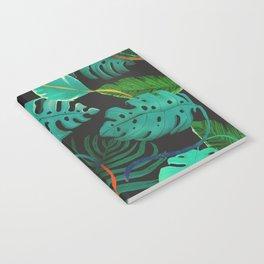 nigth tropical leaves Notebook