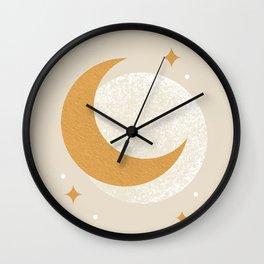 Moon Sparkle - Celestial Wall Clock