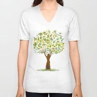 tree of life V-neck T-shirts featuring Life tree by Michelle Behar