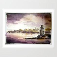 Maidens Tower Istanbul Art Print