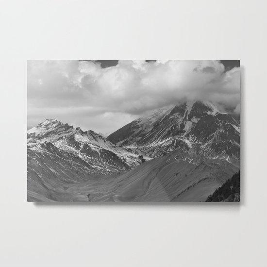 Frozen Peak Metal Print