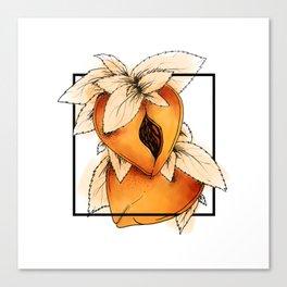 Eat a Lotta Peaches Canvas Print
