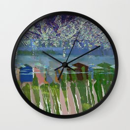 landscape collage #03 Wall Clock