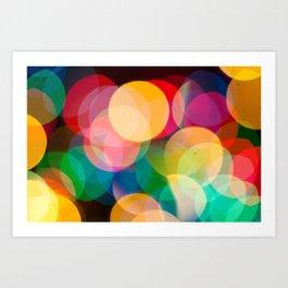 String Light Bokeh Art Print