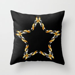 A decorative Celtic fractal flower in metallic colors Throw Pillow