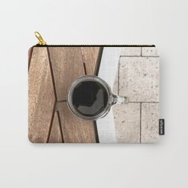 Artistic Cold Brew Shot 2 // Wood Steel & Stone Caffeine Coffee Shop Barista Wall Hanging Photograph Carry-All Pouch