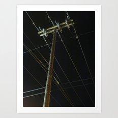 A Spider Web Of Technology Art Print