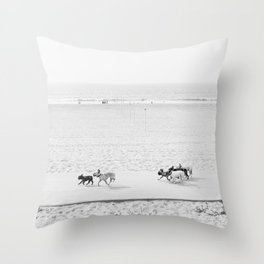 Puppy Traffic, French Bulldogs, Frenchie Art, French Bulldog Gifts Throw Pillow