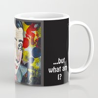 pee wee Mugs featuring Pee Wee by Portraits on the Periphery