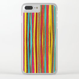 Colored Alignment Clear iPhone Case