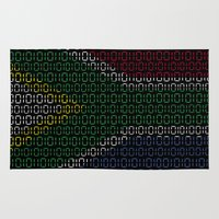 south africa Area & Throw Rugs featuring digital Flag (South Africa) by seb mcnulty