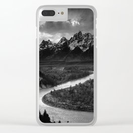 Ansel Adams - The Tetons and Snake River Clear iPhone Case