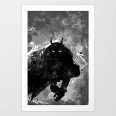 SplatterBatman Art Print