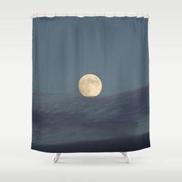 Moon equilibrium Shower Curtain