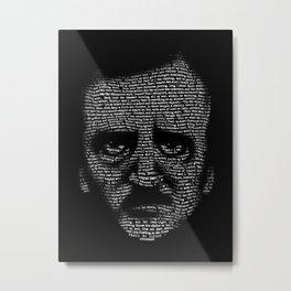 Edgar Allan Poe Nevermore Portrait Metal Print