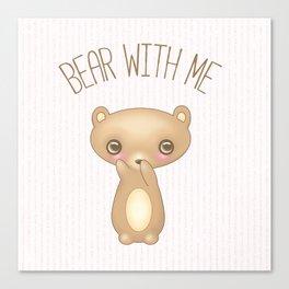 Bear With Me - Creepy Cute Teddy Canvas Print