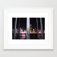 hong kong Framed Art Prints featuring Hong Kong  by Chernyshova Daryna