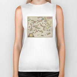 Vintage Aegean Sea Islands Map (1665) Biker Tank