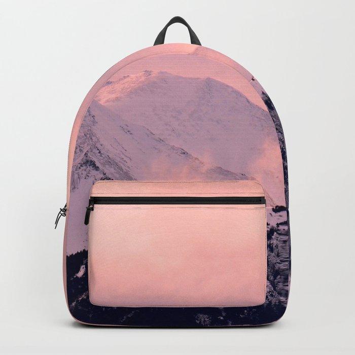 Kenai Mts Bathed in Serenity Rose - II Backpack