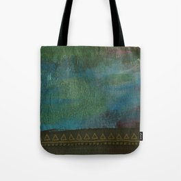 Deep blue green Tote Bag