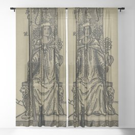 Queen Of Wands Sheer Curtain