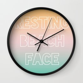 Resting Beach Face - Tropical Ombre Wall Clock