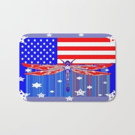 Red-White & Blue 4th of July Celebration Art Bath Mat
