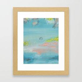 en el pantano Framed Art Print