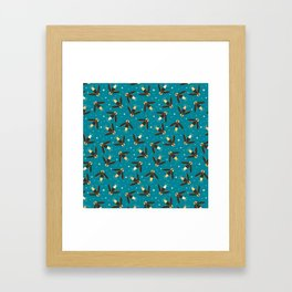 July Fireflies Framed Art Print