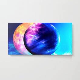 Two worlds (Sun and Moon) Metal Print