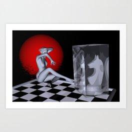 chess lady -2- Art Print