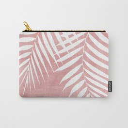 Pink Paint Stroke of Palm Leaves Carry-All Pouch