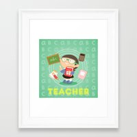 teacher Framed Art Prints featuring teacher by Alapapaju