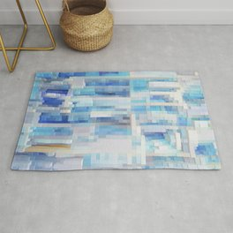 Abstract blue pattern 2 Rug